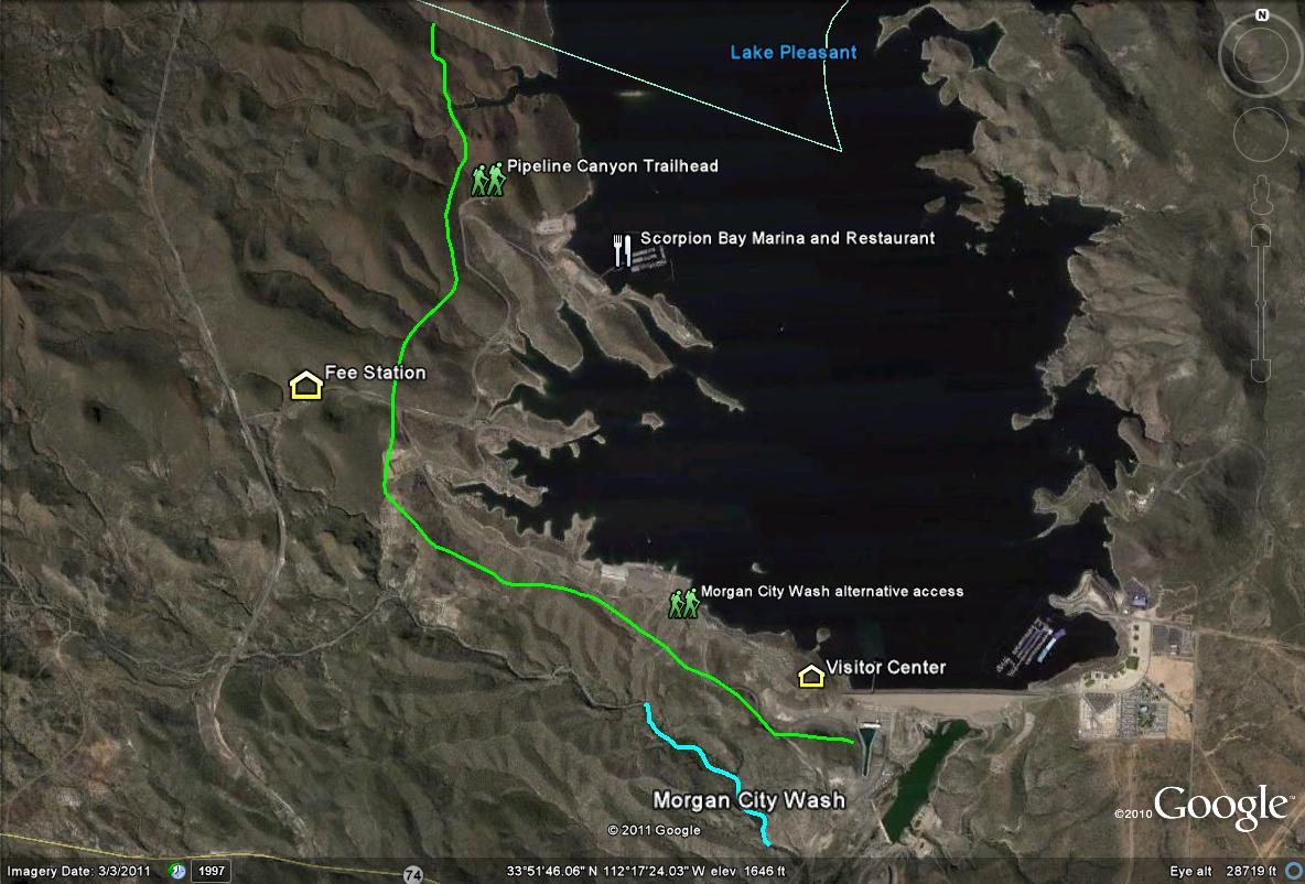 map of lake pleasant Birderfrommaricopa Com map of lake pleasant