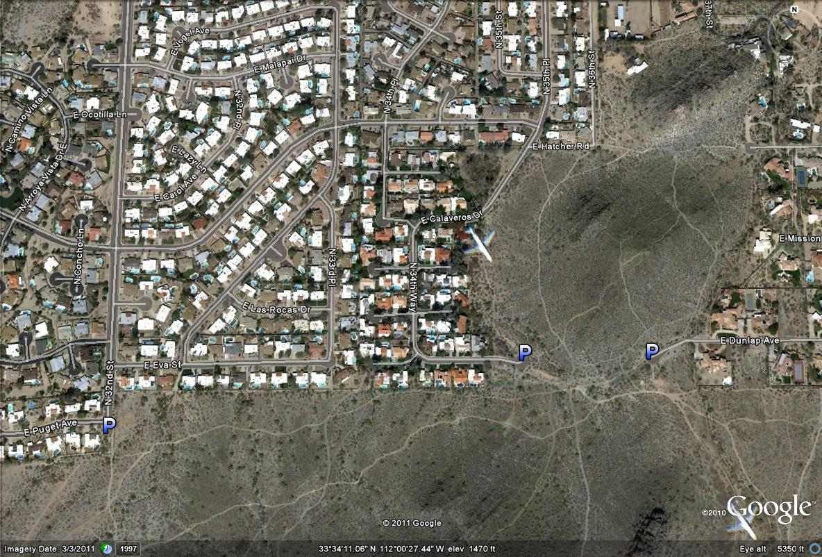 Birderfrommaricopa map 2 more parking areas of access to the north side of the phoenix mountains preserve sciox Choice Image